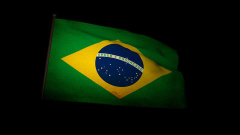 Flag Brazil 01 Stock Video Footage