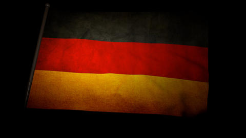 Flag Germany 01 Stock Video Footage