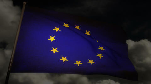 Flag Europe 02 Stock Video Footage