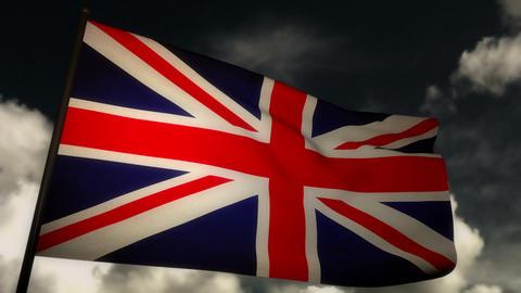 Flag England 02 Stock Video Footage
