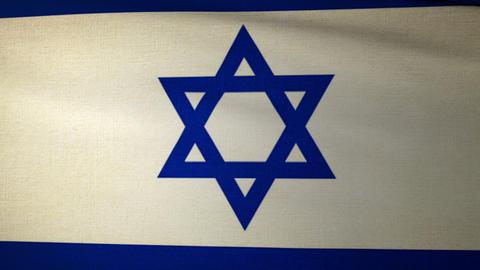 Flag Israel 04 Stock Video Footage