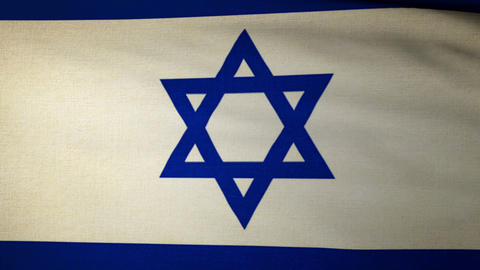 Flag Israel 04 Stock Video Footage