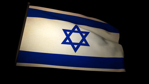 Flag Israel 01 Stock Video Footage