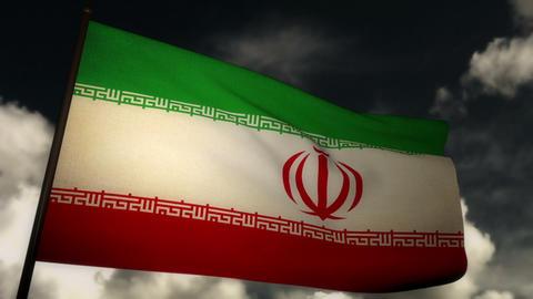 Flag Iran 02 Stock Video Footage