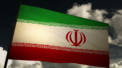 Flag Iran 02 Stock Video Footage