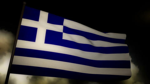 Flag Greece 02 Stock Video Footage