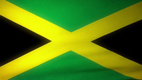 Flag Jamaica 04 Stock Video Footage