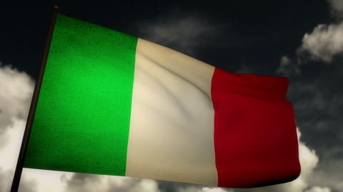 Flag Italy 02 Stock Video Footage