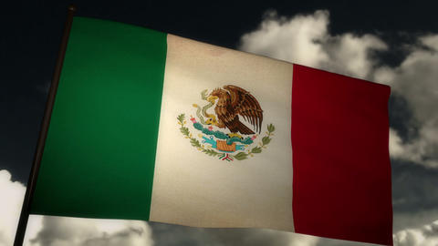 Flag Mexico 02 Stock Video Footage