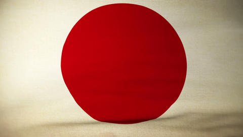 flag japan 04 Stock Video Footage