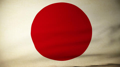 flag japan 04 Stock Video Footage