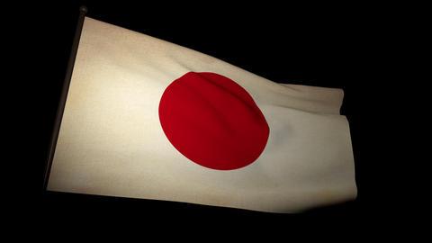flag japan 01 Stock Video Footage