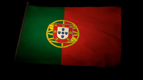 Flag Portugal 01 Stock Video Footage