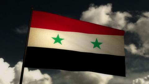 Flag Syria 02 Stock Video Footage