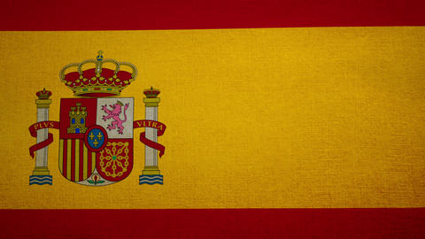 Flag Spain 04 Stock Video Footage