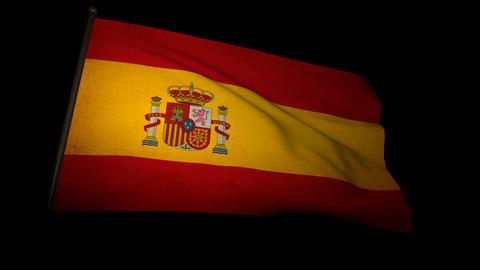 Flag Spain 01 Stock Video Footage
