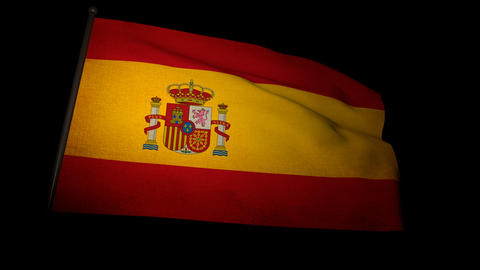 Flag Spain 01 Stock Video Footage