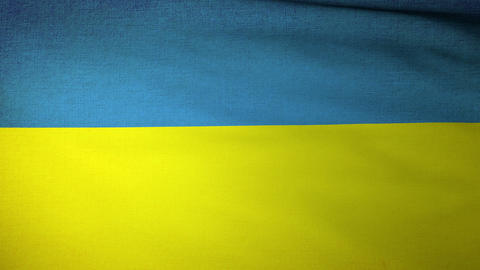 Flag Ukraine 04 Stock Video Footage