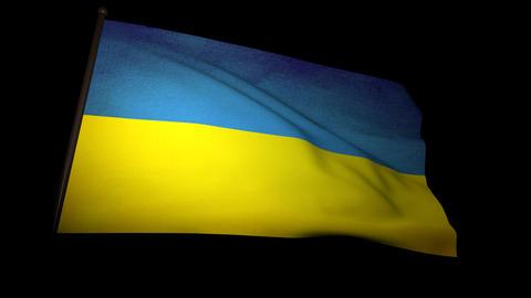Flag Ukraine 01 Stock Video Footage