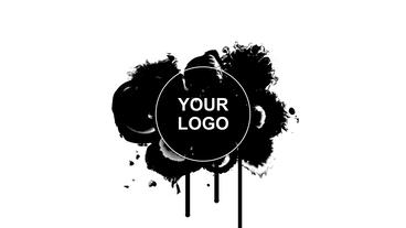 Ink Blot Logo Reveal After Effects Template