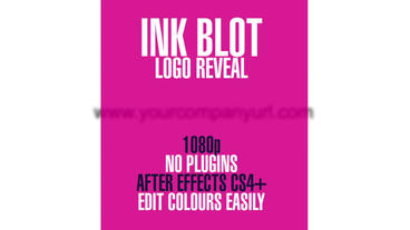 Ink Blot Logo Reveal After Effects Project