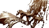 Hot dark and milk chocolate slow motion splashes. Alpha is included Animation