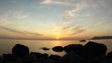 Timelapse sunset on the Black Sea. Crimea, Ukraine Footage