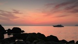 Timelapse sunset on the Black Sea. Crimea, Ukraine Footage