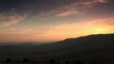 Timelapse sunrise in the mountains. Balaklava, Crimea,... Stock Video Footage