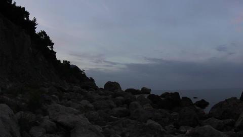 Timelapse sunrise in the mountains. Crimea, Ukraine Stock Video Footage