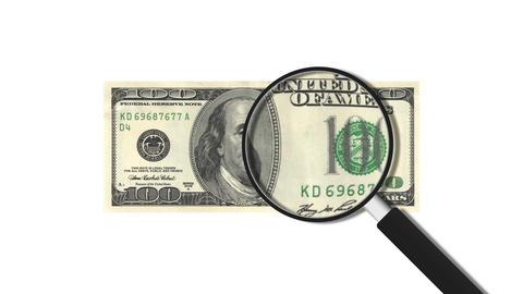 100 American Dollars Stock Video Footage