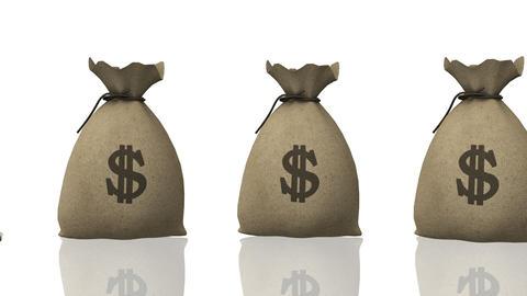 Money Bag, seamless loop Stock Video Footage