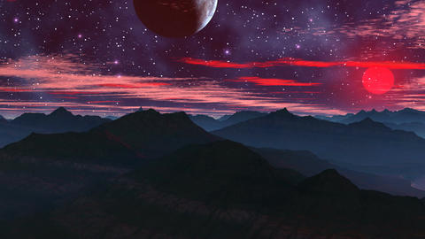 Rising of the Red Moon Stock Video Footage
