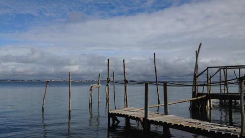 Old wood piers Footage