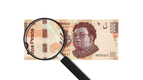 500 Mexican Pesos Stock Video Footage