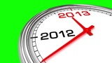New Year 2013 Clock (Green Screen) stock footage