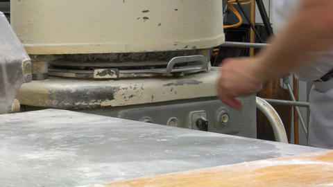 10729 machine making special roll bun Stock Video Footage