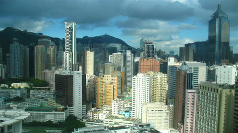 Modern city from top, timelapse Stock Video Footage