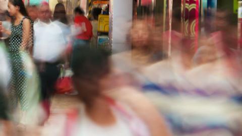 People traffic in Hong Kong, timelapse Stock Video Footage