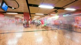 People traffic in Hong Kong subway, timelapse Footage