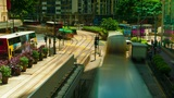 Street Traffic In Hong Kong, Timelapse stock footage
