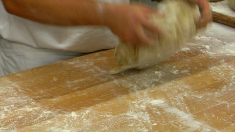 10732 german bakery kneading bread Stock Video Footage