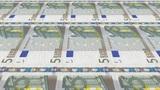 5 Euro Money Press Stock Video Footage