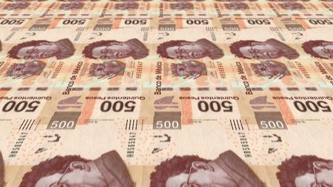 500 Peso Money Press Animation