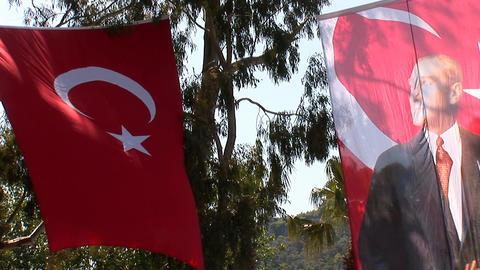 Ataturk flag Stock Video Footage