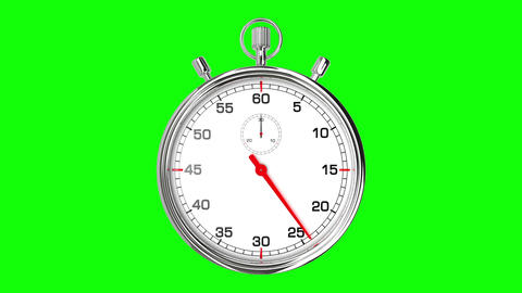 Stopwatch Loop Realtime (Green Screen) Animation