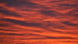 Evening red cloudy sky (real time) Footage