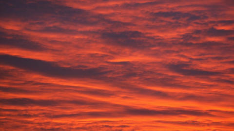Evening red cloudy sky (real time) Stock Video Footage