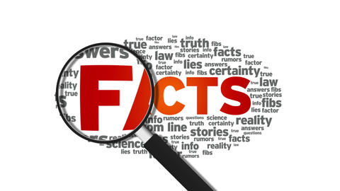 Facts Stock Video Footage