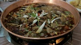 Chinese food. Chafing dish close up 02 Footage